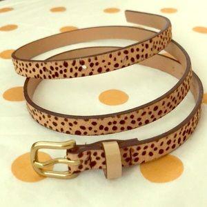 Anthropologie Leopard/Spotted Skinny Belt